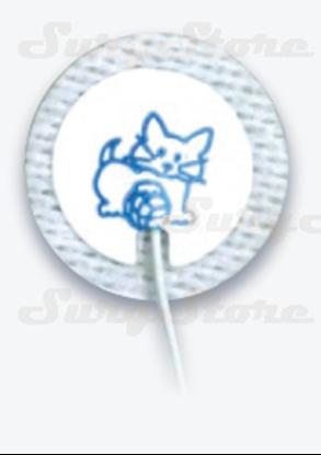Изображение 31424768 ЭКГ электроды Kendall™ Kittycat™ Ø25мм тканый материал неонатальные 1,5мм DIN нерентгенопрозрачные