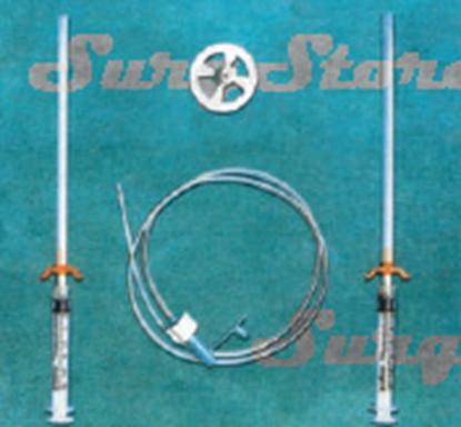 Изображение 1180263004 Набор для еюностомии Kangaroo: трубка, фиксирующий диск, игла-троакар, 8FR 80см