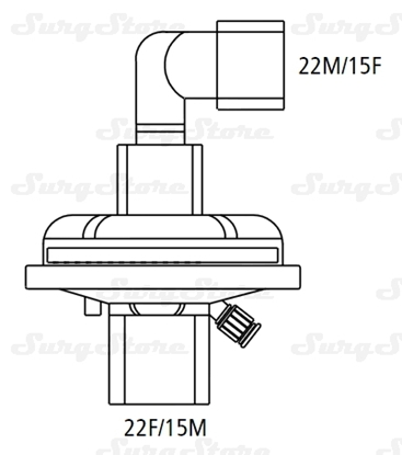 Immagine di 350/5420 Фильтры электростатические Барьербак С (BARRIERBAC S) со съемным 90° коннектором