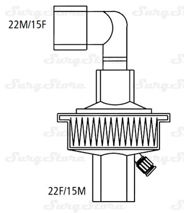 Immagine di 351/5984 Фильтры механические Стеривент мини (STERIVENT MINI) с угловым коннектором