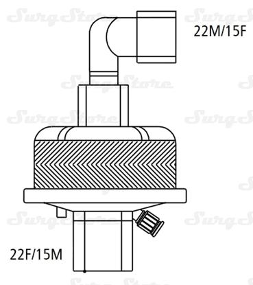 Immagine di 352/5867 Фильтры электростатические Гигробак С (HYGROBAC S) с ТВО со съемным 90° коннектором
