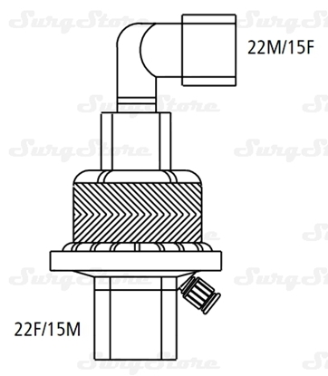 Immagine di 355/5884 Фильтры электростатические Гигробой (HYGROBOY) с тепловлагообменником с угловым коннектором