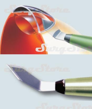 Picture of 200200615 Кератом с пластиковой ручкой стерильный. Bevel-up, ширина лезвия 1.5 мм, угол режущей кромки 40°, P-7615