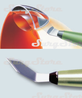 Picture of 200200616 Кератом с пластиковой ручкой стерильный. Bevel-up, ширина лезвия 1.6 мм, угол режущей кромки 40°, P-7616