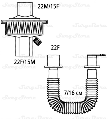 Immagine di 351/5980 Фильтры механические Стеривент мини (STERIVENT MINI) с гибким растяжимым коннектором
