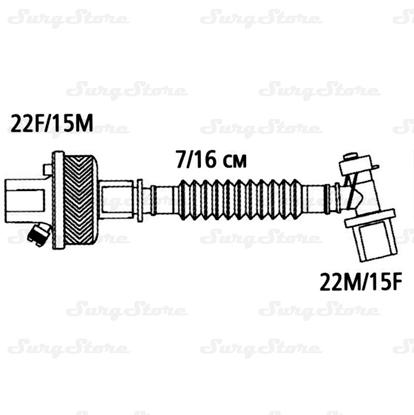 Immagine di 352/5893 Фильтры электростатические Гигробак С (HYGROBAC S) с ТВО с гибким растяжимым и угловым шарнирным коннектором