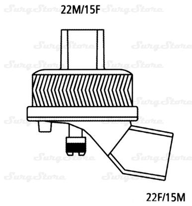 Immagine di 352/5996 Фильтры электростатические Гигробак С-А (HYGROBAC S-A) с тепловлагообменником с угловым коннектором