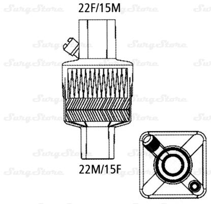 Изображение 354S19028 Фильтры механические Гигростер мини (HYGROSTER MINI) с тепловлагообменником