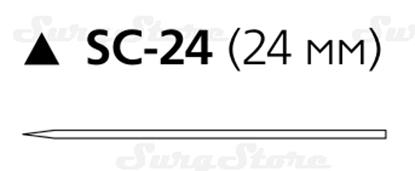 Picture of 184T Шелк хирургический М2 (3/0) 45 см игла режущая SC-24 24 мм