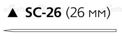 Picture of 164T Этилон НЕрассасывающийся, 45 см, черный, 2-0, с иглой SC-26