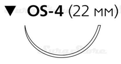 Изображение 6518H Этибонд Эксель зеленый М4 (1), 75 см,  игла обратно-режущая OS-4  1/2 22 мм