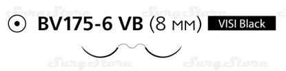 Изображение 8335H Пролен синий  М0.5 (7/0) 60 см две иглы колющие BV 175-6 VISI BLACK