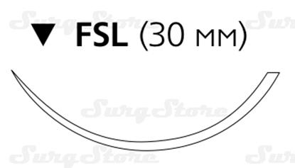 Изображение 8675H Пролен синий М2 (3/0) 75 см игла обратно-режущая FSL