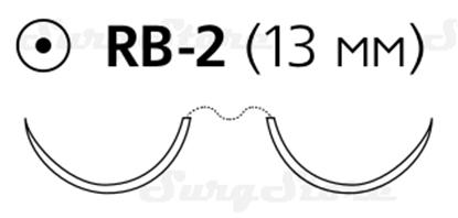 Изображение 8711H Пролен синий М0.7 (6/0) 75 см две иглы колющие RB-2