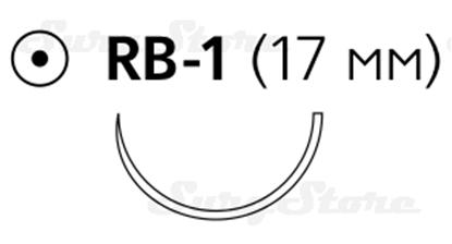 Picture of 8871H Пролен синий М1.5 (4/0) 75 см игла колющая RB-1