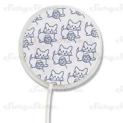 Picture of 30710001 ЭКГ электроды Medi-Trace™ Kittycat™ Ø22мм тканый материал неонатальные 1,5мм DIN нерентгенопрозрачные