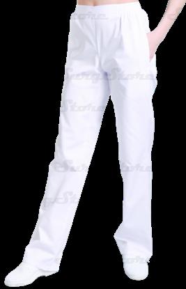 Picture of БРЮ3401.01 Брюки женские, на резинке белые  DS™