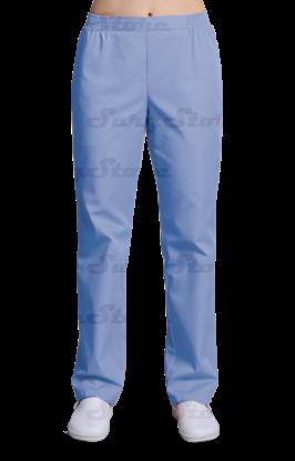 Picture of БРЮ3401.06 Брюки женские, на резинке голубые  DS™