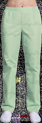 Изображение БРЮ3401.10 Брюки женские, на резинке зеленый лист DS™