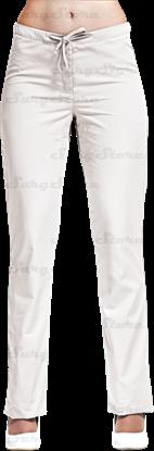 Picture of БРЮ3405.01 Брюки женские, со шнуром белые DS™
