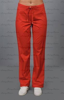 Picture of БРЮ3405.16 Брюки женские, со шнуром красные DS™