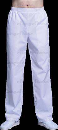 Изображение БРЮ3408.01 Брюки мужские, на резинке белые DS™