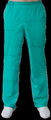 Изображение БРЮ3408 Брюки мужские, на резинке зеленые 100% х/б DS™