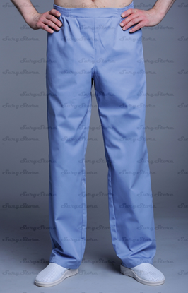 Изображение БРЮ3408.07 Брюки мужские, на резинке серо/голубые DS™
