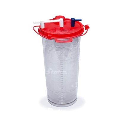 Image de 1180310623 Мягкие сменные контейнеры Argyle™ Sep-T-Vac, с вакуум-контролем, с трубкой 180см, с крышкой, 2000мл