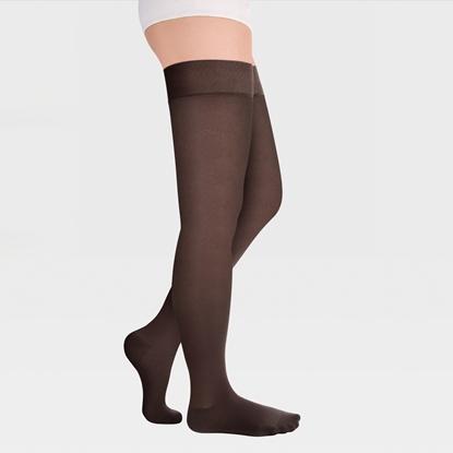 Изображение ID-300T Компрессионные чулки прозрачные (женские, закрытый носок, простая резинка), пара, класс компрессии 1 и 2