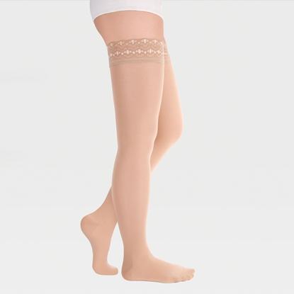 Image de ID-301T Компрессионные чулки прозрачные (женские, закрытый носок, ажурная резинка), пара, класс компрессии 1 и 2