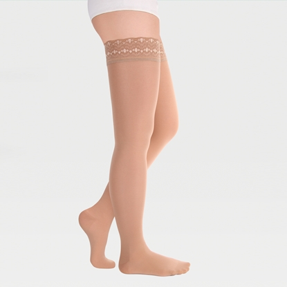 Image de ID-301 Компрессионные чулки (женские, закрытый носок, ажурная резинка), пара, класс компрессии 1 и 2