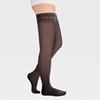Image sur ID-301TW Компрессионные чулки прозрачные (женские, закрытый носок, ажурная резинка), пара, класс компрессии 1 и 2