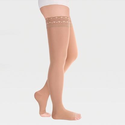 Image de ID-311 Компрессионные чулки (женские, открытый носок, ажурная резинка), пара, класс компрессии 1 и 2