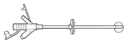Изображение 0100-22 гастростома MIC KIMBERLY-CLARK, 22 FR, баллон 10/7 мл, силиконовые, стерильно