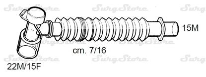 Picture of 331/5662 коннекторы DAR MEDTRONIC-COVIDIEN, растяжимые, полипропилен (ПП),  22M/15F коннектор пациента, 15M коннектор ИВЛ, длина 7/16 см, стерильно