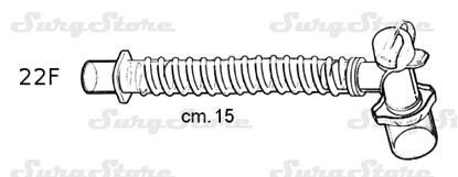 Picture of 331/5385 коннекторы DAR MEDTRONIC-COVIDIEN, гладкоствольные, поливинилхлорид (ПВХ),  22M/15F коннектор пациента, 22F коннектор ИВЛ, длина 15 см, стерильно