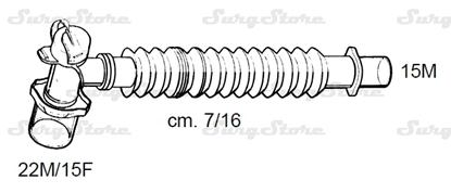 Picture of 331/5661 коннекторы DAR MEDTRONIC-COVIDIEN, растяжимые, полипропилен (ПП),  22M/15F коннектор пациента, 15M коннектор ИВЛ, длина 7/16 см, стерильно