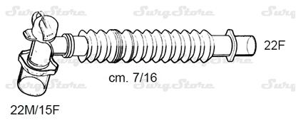 Picture of 331/5669 коннекторы DAR MEDTRONIC-COVIDIEN, растяжимые, полипропилен (ПП),  22M/15F коннектор пациента, 22F коннектор ИВЛ, длина 7/16 см, стерильно