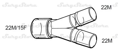 Picture of 600P5086 коннекторы DAR MEDTRONIC-COVIDIEN,  22M/15F коннектор пациента, 22M-22M коннектор ИВЛ, нестерильно