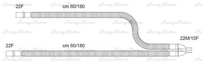 Изображение 300/13316 контуры DAR MEDTRONIC-COVIDIEN, растяжимые, полипропилен (ПП), взрослые, диаметр 22 мм, Y-образный 22M/15F коннектор пациента, 22F-22F коннектор ИВЛ, длина 60/180+60/180 см, нестерильно