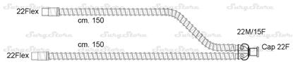 Изображение 301/6130 контуры DAR MEDTRONIC-COVIDIEN, гладкоствольные, поливинилхлорид (ПВХ), взрослые, диаметр 22 мм, Y-образный 22M/15F коннектор пациента, 22Flex-22Flex коннектор ИВЛ, длина 180+180 см, стерильно