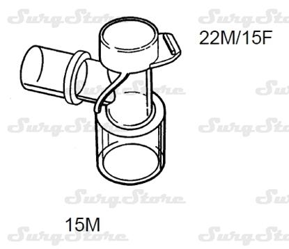 Picture of 606/5171 коннекторы DAR MEDTRONIC-COVIDIEN,  22M/15F коннектор пациента, 15M коннектор ИВЛ, стерильно
