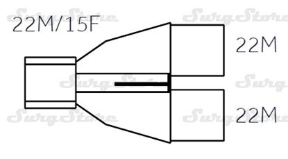 Picture of 600/5087 коннекторы DAR MEDTRONIC-COVIDIEN, взрослые,  22M/15F коннектор пациента, 22M-22M коннектор ИВЛ, стерильно