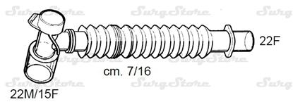Picture of 331/5670 коннекторы DAR MEDTRONIC-COVIDIEN, растяжимые, полипропилен (ПП),  22M/15F коннектор пациента, 22F коннектор ИВЛ, длина 7/16 см, стерильно