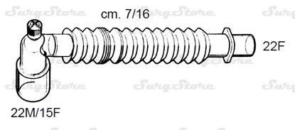 Picture of 330/5667 коннекторы DAR MEDTRONIC-COVIDIEN, растяжимые, полипропилен (ПП),  22M/15F коннектор пациента, 22F коннектор ИВЛ, длина 7/16 см, стерильно
