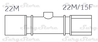 Picture of 608/5094 коннекторы DAR MEDTRONIC-COVIDIEN, размер 22М-22М/15F, стерильно