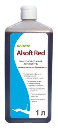 Изображение Alsoft Red Дезинфицирующее средство для операционного поля еврофлакон 1л